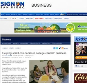 SBDC and CITD featured in San Diego Union Tribune
